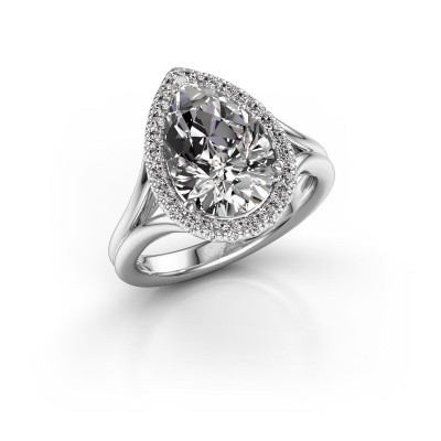 Foto van Verlovingsring Elenore 950 platina diamant 3.288 crt