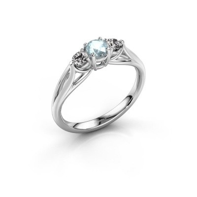 Picture of Engagement ring Amie RND 585 white gold aquamarine 4.2 mm