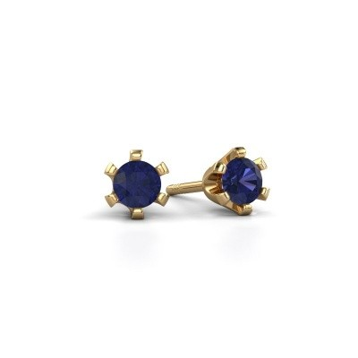 Picture of Stud earrings Shana 375 gold sapphire 4 mm