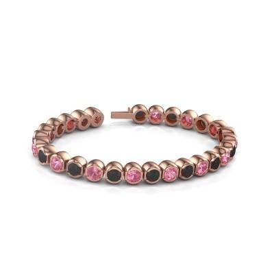 Foto van Tennisarmband Delma 375 rosé goud roze saffier 5 mm