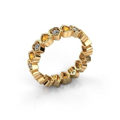 Stackable ring Pleun 585 gold citrin 2 mm