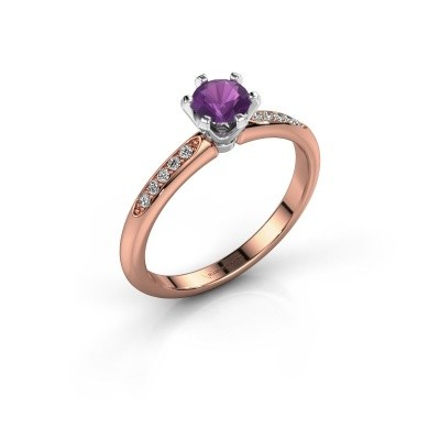 Picture of Engagement ring Tiffy 2 585 rose gold amethyst 4.7 mm