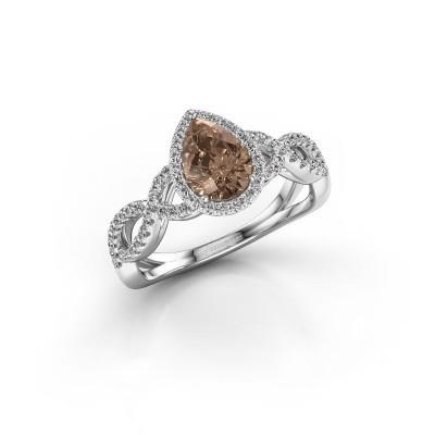 Foto van Verlovingsring Dionne 585 witgoud bruine diamant 0.99 crt