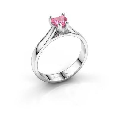 Verlobungsring Sam Heart 950 Platin Pink Saphir 5 mm