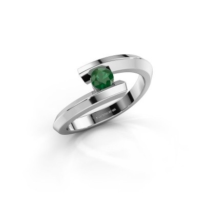 Ring Paulette 925 zilver smaragd 3.4 mm