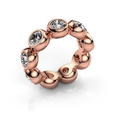 Foto van Ring Renea 375 rosé goud diamant 4.50 crt