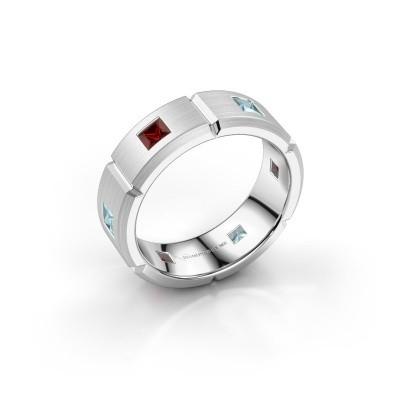 Foto van Heren ring Steve 925 zilver granaat 3 mm