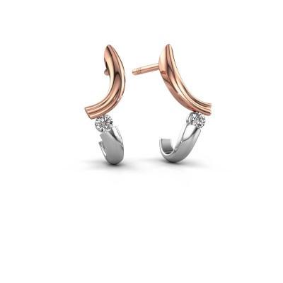 Foto van Oorbellen Tish 585 rosé goud diamant 0.12 crt