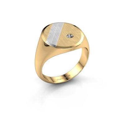 Foto van Zegelring Wesley 5 585 goud diamant 0.06 crt