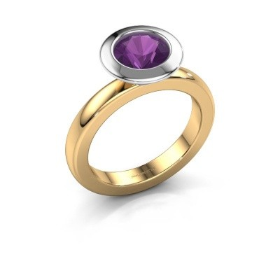 Stapelring Trudy Round 585 goud amethist 7 mm
