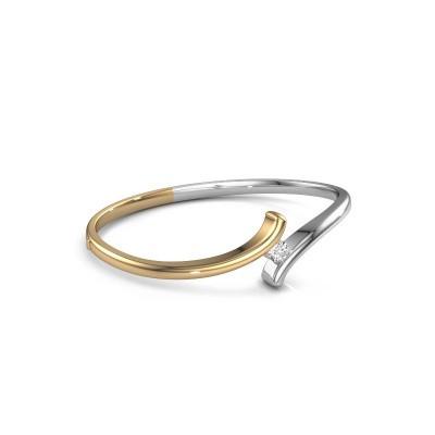 Slavenarmband Amy 585 goud diamant 0.50 crt