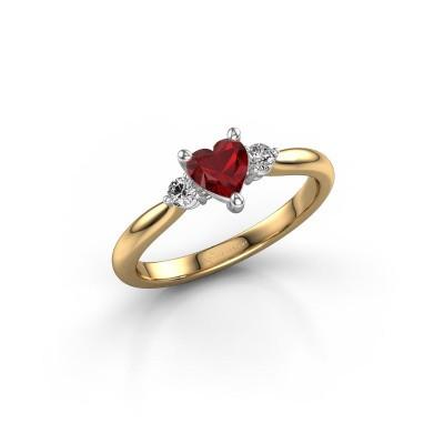 Foto van Verlovingsring Lieselot HRT 585 goud robijn 5 mm