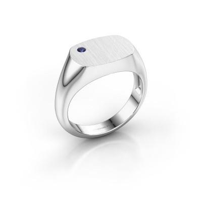 Foto van Heren ring Bram 2 925 zilver saffier 2 mm