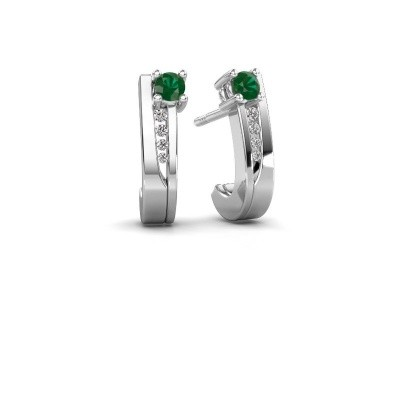 Picture of Earrings Jewell 950 platinum emerald 2.7 mm