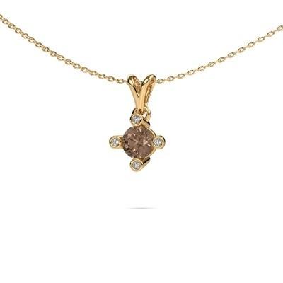 Foto van Hanger Cornelia Round 375 goud bruine diamant 0.67 crt