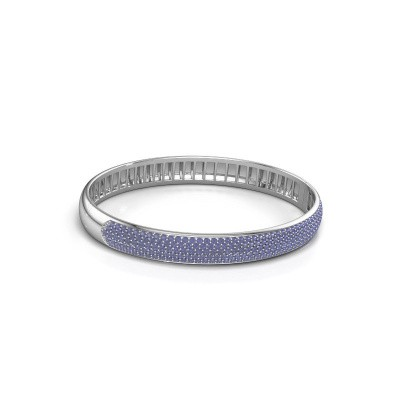 Slavenarmband Emely 8mm 585 witgoud saffier 1.4 mm