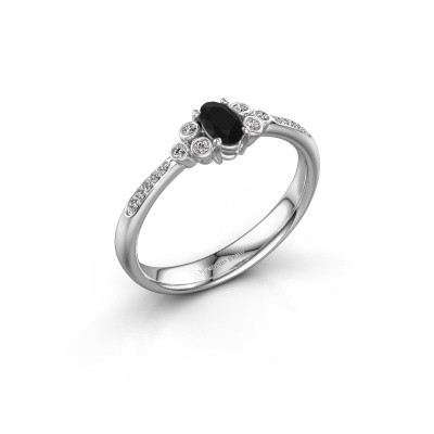 Verlobungsring Lucy 2 925 Silber Schwarz Diamant 1.129 crt