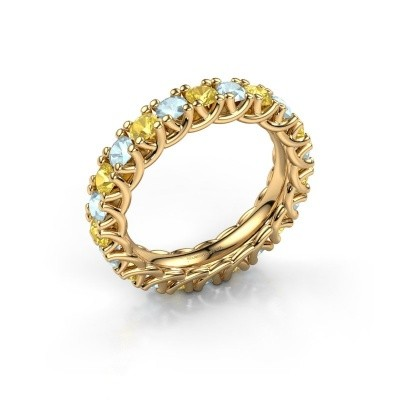 Foto van Ring Fenna 375 goud gele saffier 3 mm
