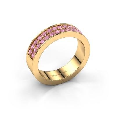 Aanschuifring Catharina 6 375 goud roze saffier 1.7 mm