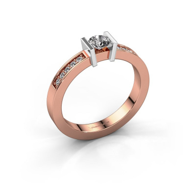 Aanzoeksring Maryam 585 rosé goud diamant 0.35 crt