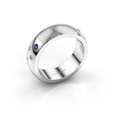 Picture of Ring Minke 375 white gold sapphire 2 mm