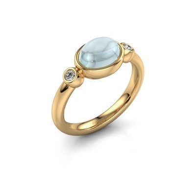 Ring Liane 585 goud aquamarijn 8x6 mm