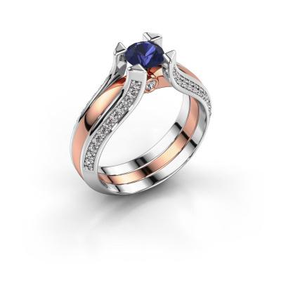Engagement ring Nadine 585 rose gold sapphire 5 mm