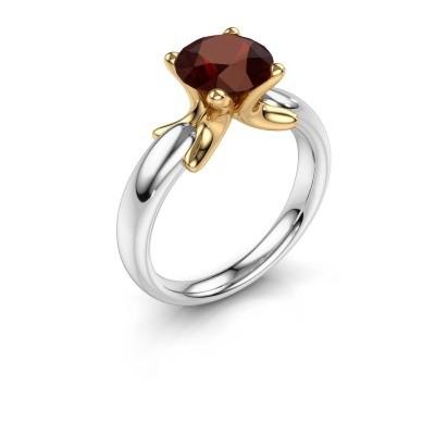 Ring Jodie 585 Weißgold Granat 8 mm