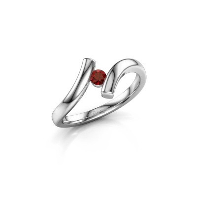 Picture of Ring Amy 585 white gold garnet 3 mm