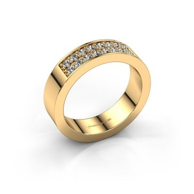 Stackable ring Catharina 5 375 gold lab grown diamond 0.32 crt