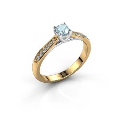Verlovingsring Mia 2 585 goud aquamarijn 4.2 mm