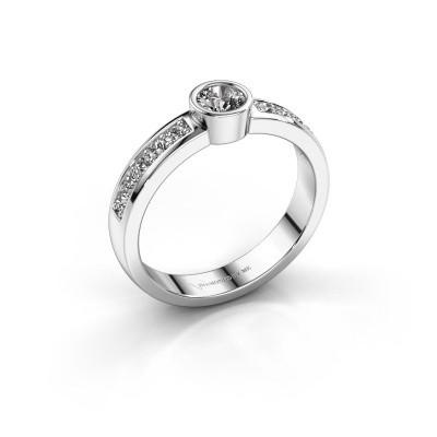 Foto van Aanzoeksring Ise 2 950 platina diamant 0.45 crt