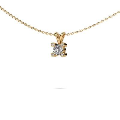 Foto van Hanger Fleur 585 goud diamant 0.30 crt