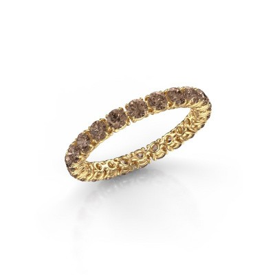 Picture of Ring Vivienne 2.7 375 gold brown diamond 1.68 crt