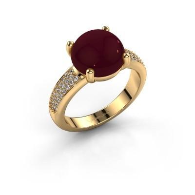 Foto van Ring Sophie 585 goud granaat 10 mm