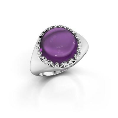 Ring Birgit 925 zilver amethist 12 mm