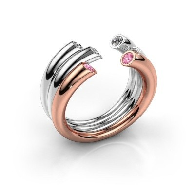 Ring Noelle 585 rose gold pink sapphire 2.4 mm