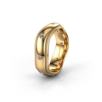 Trouwring WH2051L26DP 585 goud diamant ±6x2.4 mm