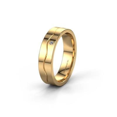 Trouwring WH0701L15AP 585 goud diamant ±5x1.7 mm