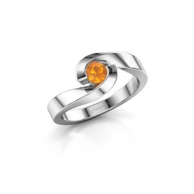 Foto van Ring Sheryl 950 platina citrien 4 mm