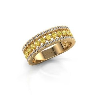 Verlovingsring Elizbeth 1 750 goud gele saffier 2 mm