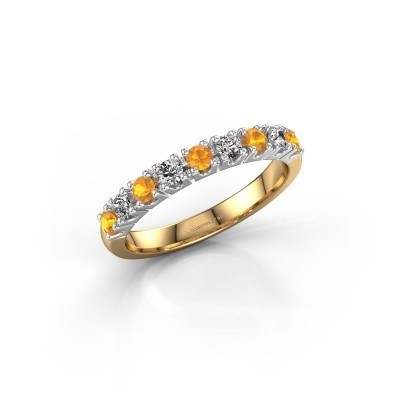 Picture of Engagement ring Rianne 9 585 gold citrin 2.4 mm