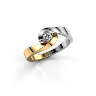 Foto van Verlovingsring Sheryl 585 goud lab-grown diamant 0.20 crt