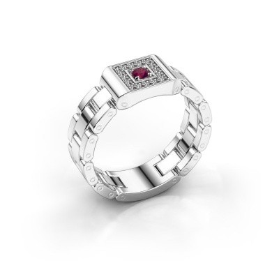 1a37146b9cd5f White gold rhodolite men's rings | Design your own | DiamondsByMe