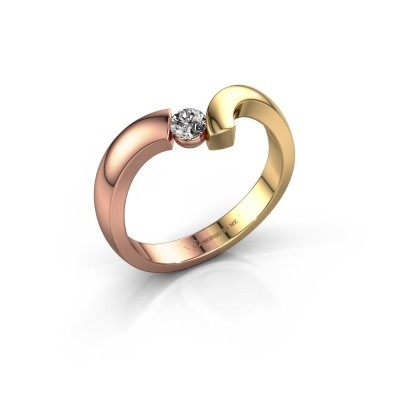 Ring Arda 585 rosé goud zirkonia 3.4 mm