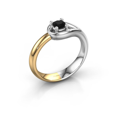 Ring Fabienne 585 white gold black diamond 0.30 crt