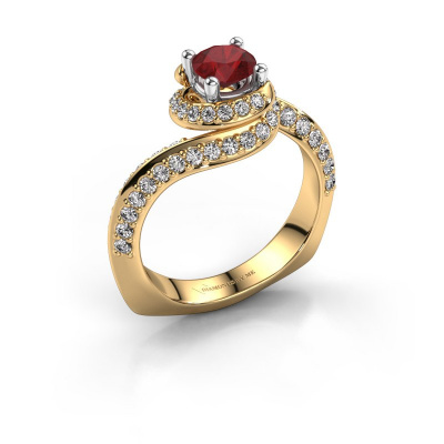Engagement ring Sienna 585 gold ruby 5 mm