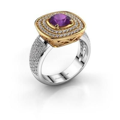 Ring Eliana 585 goud amethist 6 mm