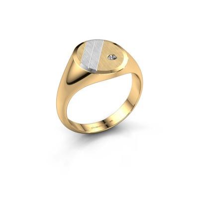 Foto van Zegelring Wesley 2 585 goud diamant 0.03 crt