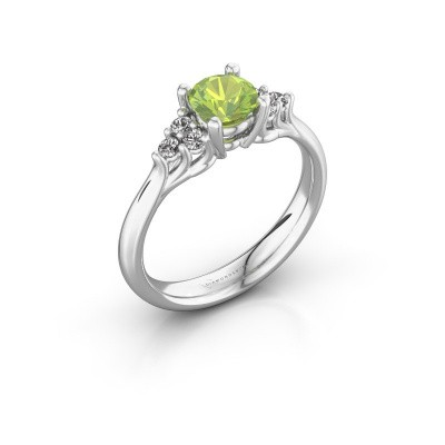 Picture of Engagement ring Monika RND 950 platinum peridot 5.5 mm